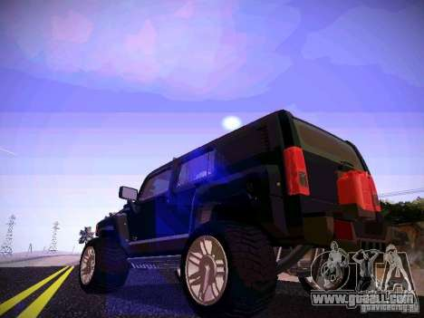 Hummer H3R for GTA San Andreas back left view