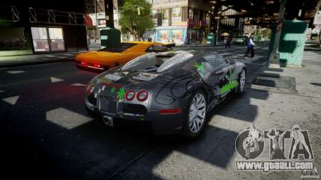 Bugatti Veyron 16.4 v1.0 new skin for GTA 4 side view