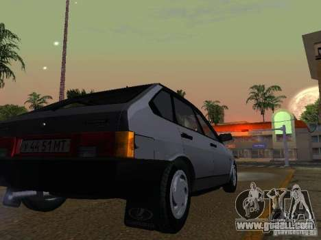 Vaz 2109 Sputnik for GTA San Andreas back view