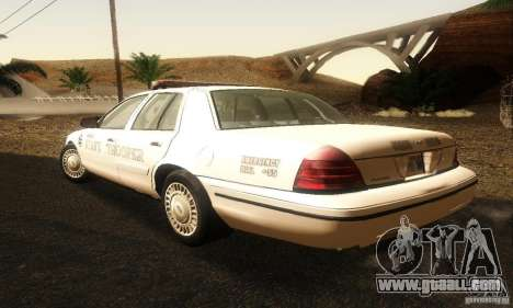 Ford Crown Victoria Neberska Police for GTA San Andreas left view