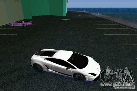 Lamborghini Gallardo LP570 SuperLeggera for GTA Vice City back view
