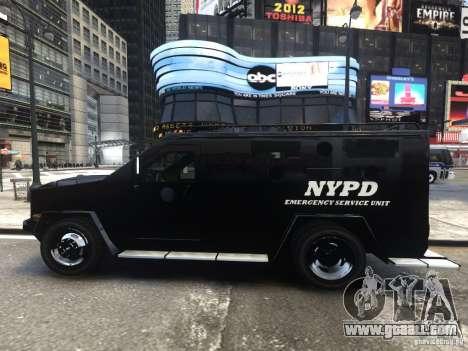Lenco BearCat NYPD ESU V.1 for GTA 4 left view