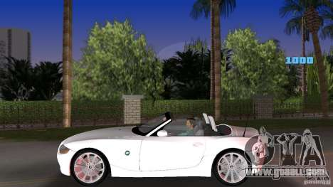 BMW Z4 2004 for GTA Vice City left view