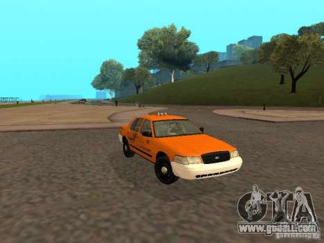 Ford Crown Victoria San Francisco Cab for GTA San Andreas back left view