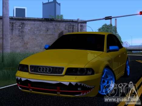 Audi S4 DatShark 2000 for GTA San Andreas back left view