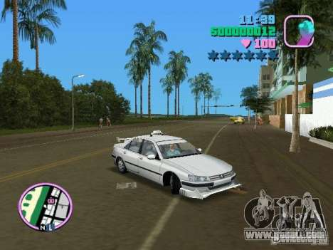 Peugeot 406 Taxi for GTA Vice City right view