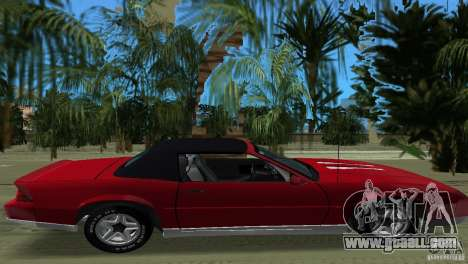 Chevrolet Camaro Convertible 1986 for GTA Vice City back view