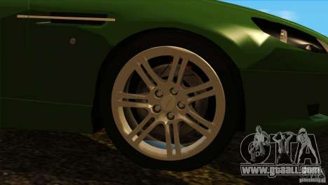 Aston Martin DB9 for GTA San Andreas inner view