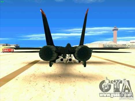 F-14 Tomcat Razgriz for GTA San Andreas back left view