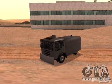A police water cannon Rosenbauer for GTA San Andreas back view