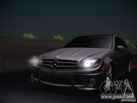 Mercedes-Benz S63 AMG for GTA San Andreas back view