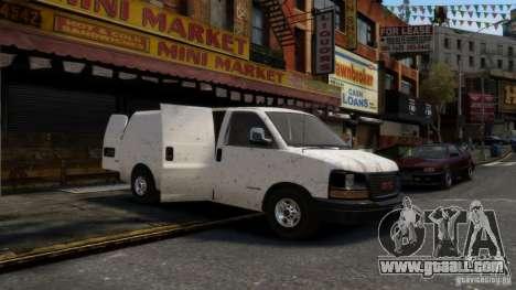 GMC Savana 2500 v1.0 for GTA 4 back view