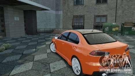 Mitsubishi Lancer EVO X for GTA 4 left view