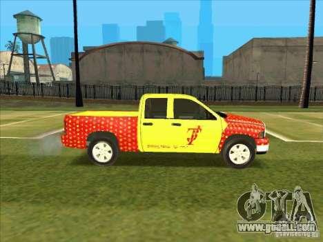 Tej Dodge RAM 2 Fast 2 Furious for GTA San Andreas back view