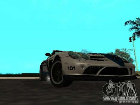 Mercedes-Benz SLR 722 SCPD for GTA San Andreas back left view