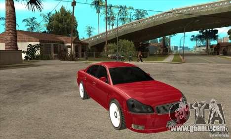 GTA IV Intruder for GTA San Andreas back view
