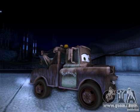 Car Mater for GTA San Andreas right view