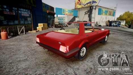 Ford Taunus for GTA 4 inner view