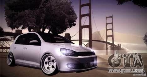 Volkswagen Golf VI 2010 Stance Nation for GTA San Andreas side view