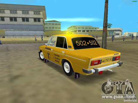 VAZ 2106 Taxi v 2.0 for GTA Vice City back left view