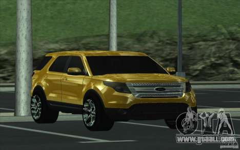 Ford Explorer Limited 2013 for GTA San Andreas back view
