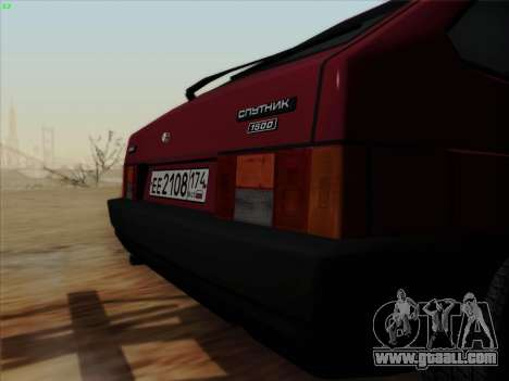 VAZ 21083i for GTA San Andreas back view