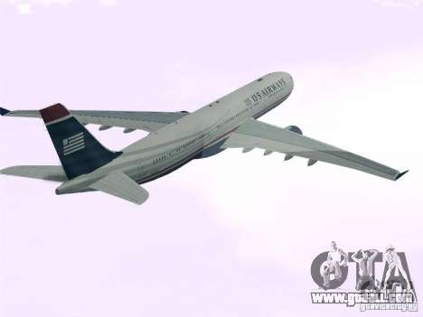 Airbus A330-300 US Airways for GTA San Andreas left view