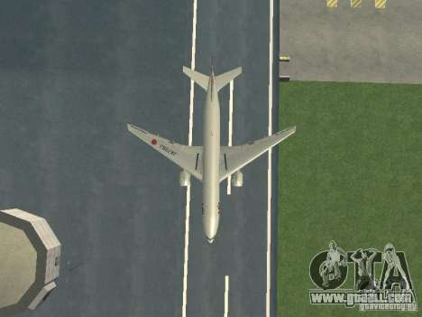 Boeing 777-200 Japan Airlines for GTA San Andreas side view