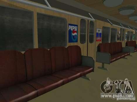 Metro e for GTA San Andreas inner view