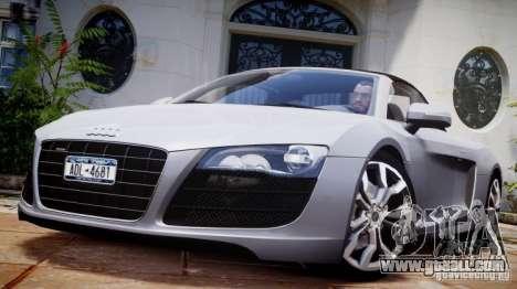 Audi R8 Spyder 5.2 FSI Quattro V4 [EPM] for GTA 4 bottom view