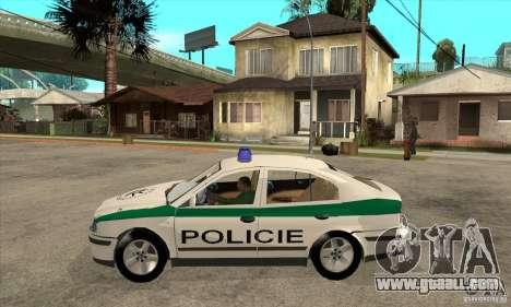 Skoda Octavia Police CZ for GTA San Andreas left view
