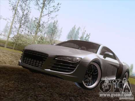Audi R8 Hamann for GTA San Andreas back view