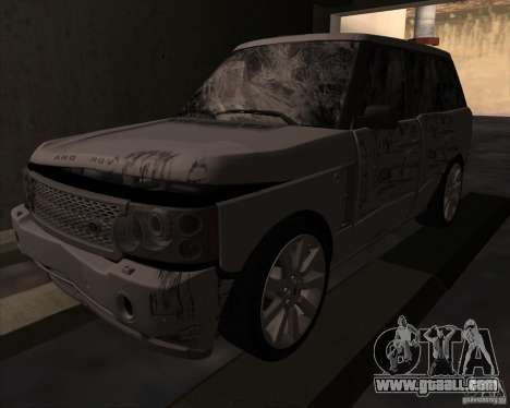 Land Rover Range Rover Supercharged for GTA San Andreas back view