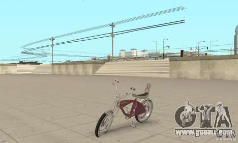 Lowrider Bicycle Custom Version for GTA San Andreas