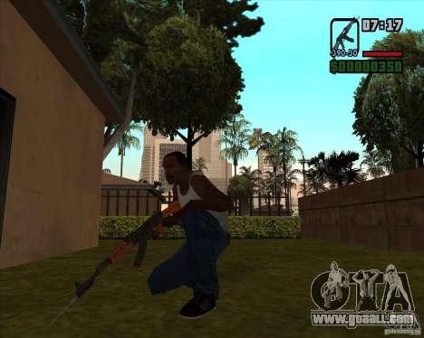 AK-47 with bayonet for GTA San Andreas