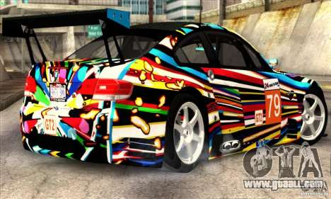 BMW M3 GT2 for GTA San Andreas back left view