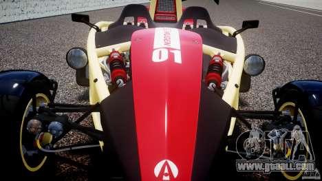 Ariel Atom 3 V8 2012 Custom Mugen for GTA 4 upper view
