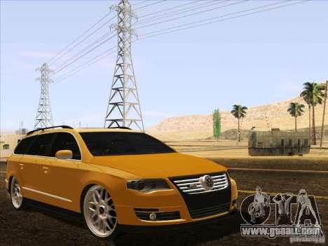 Volkswagen Passat B6 Variant for GTA San Andreas bottom view