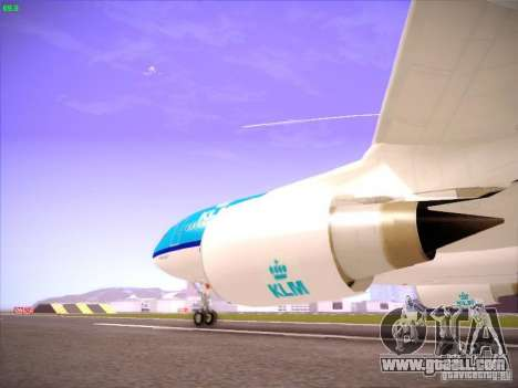 Airbus A330-200 KLM Royal Dutch Airlines for GTA San Andreas inner view