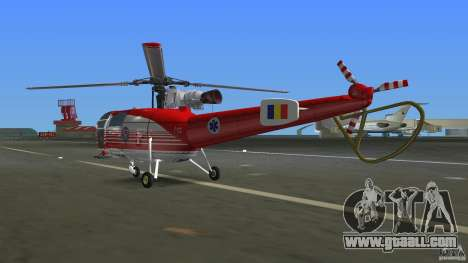 IAR 316B Alouette III SMURD for GTA Vice City right view