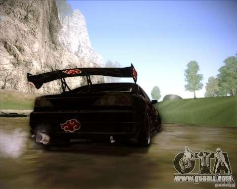 Nissan Silvia S15 with AKATSUKI paintjob for GTA San Andreas left view