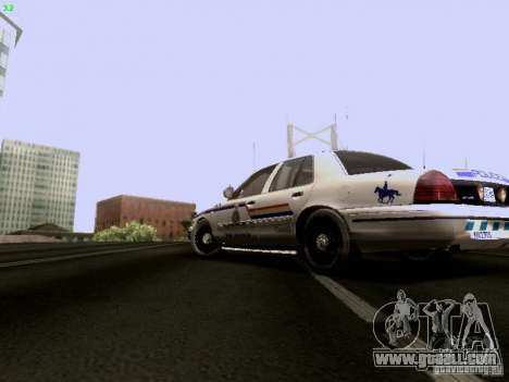 Ford Crown Victoria Canadian Mounted Police for GTA San Andreas left view