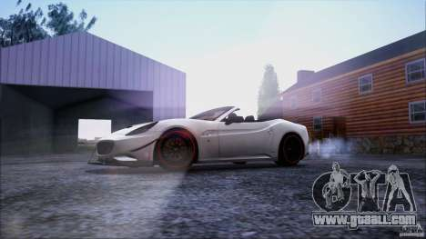 Ferrari California for GTA San Andreas bottom view