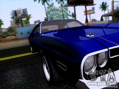 Dodge Challenger HEMI for GTA San Andreas back left view