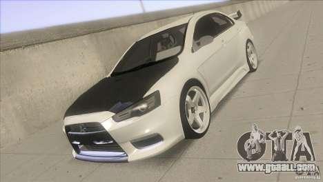 Mitsubishi Lancer Evo IX DIM for GTA San Andreas back view
