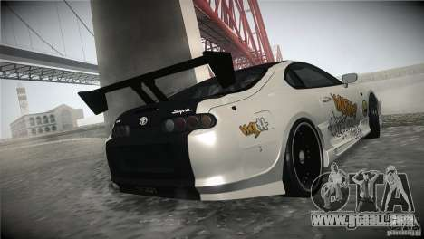 Toyota Supra MyGame Drift Team for GTA San Andreas inner view