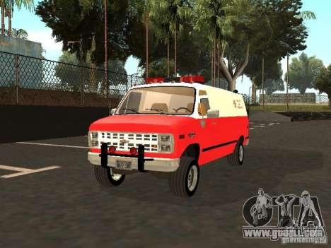 Chevrolet Van G20 LAFD for GTA San Andreas