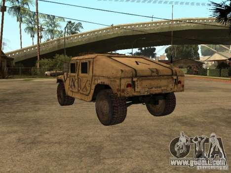 War Hummer H1 for GTA San Andreas back left view