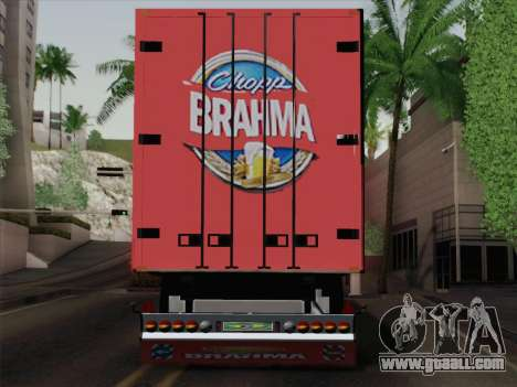 Trailer for Scania R620 Brahma for GTA San Andreas back view