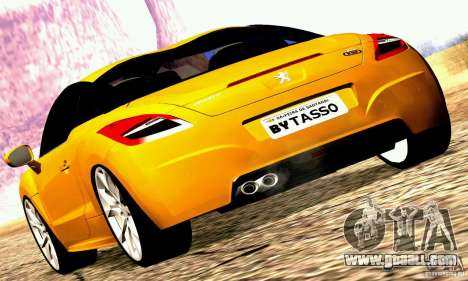 Peugeot Rcz 2011 for GTA San Andreas left view